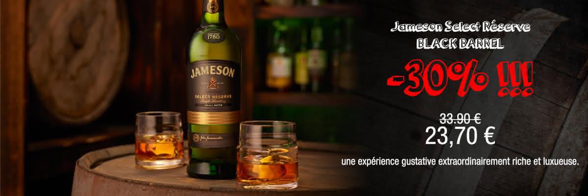 jameson select reserve black barrel prix discount