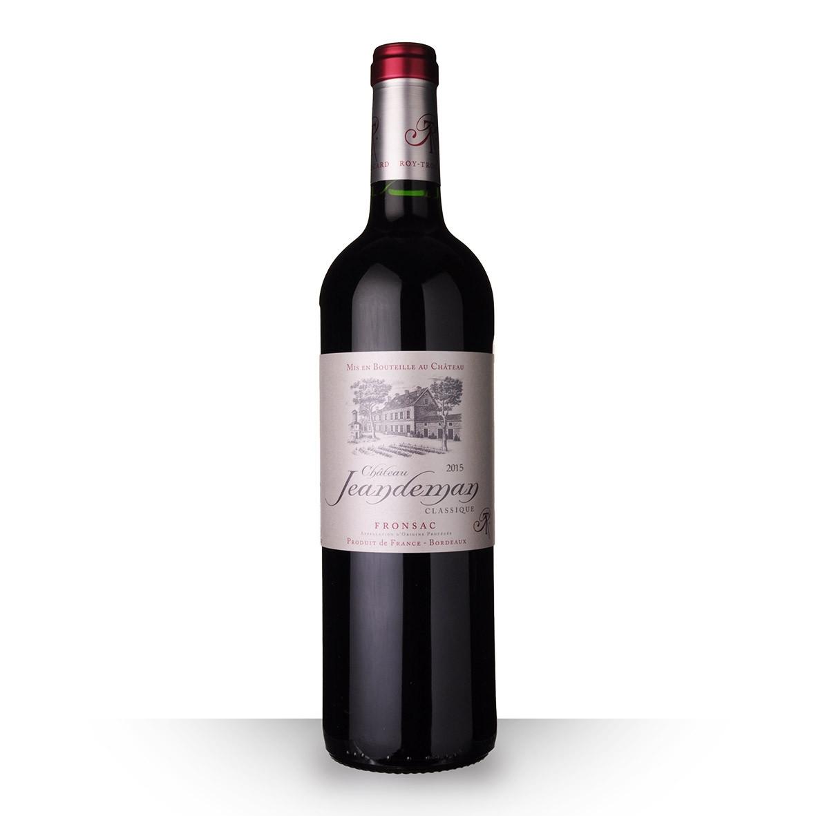 Château Jeandeman Fronsac Rouge 2015 75cl www.odyssee-vins.com