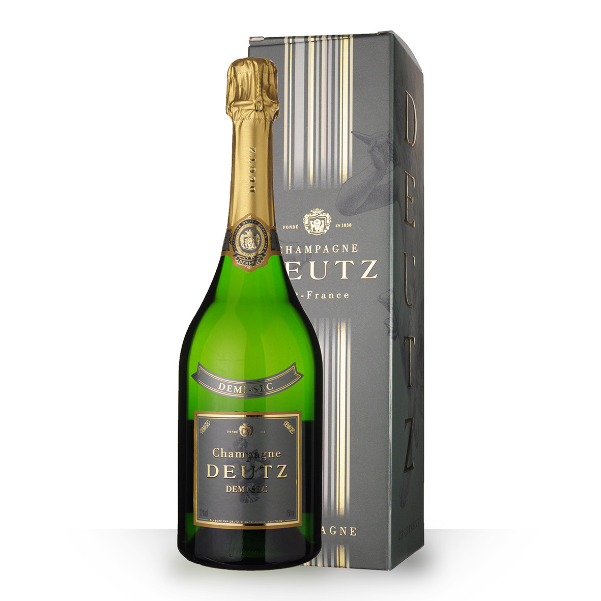 Champagne Deutz Demi-Sec 75cl Etui www.odyssee-vins.com