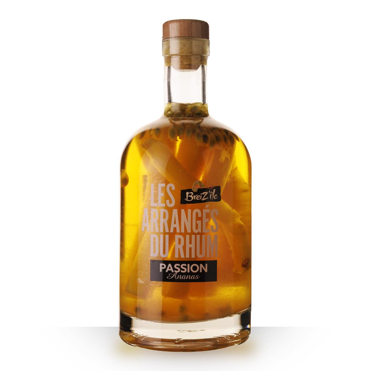 Rhum BreizIle les arrangés du Rhum Passion Ananas 70cl www.odyssee-vins.com