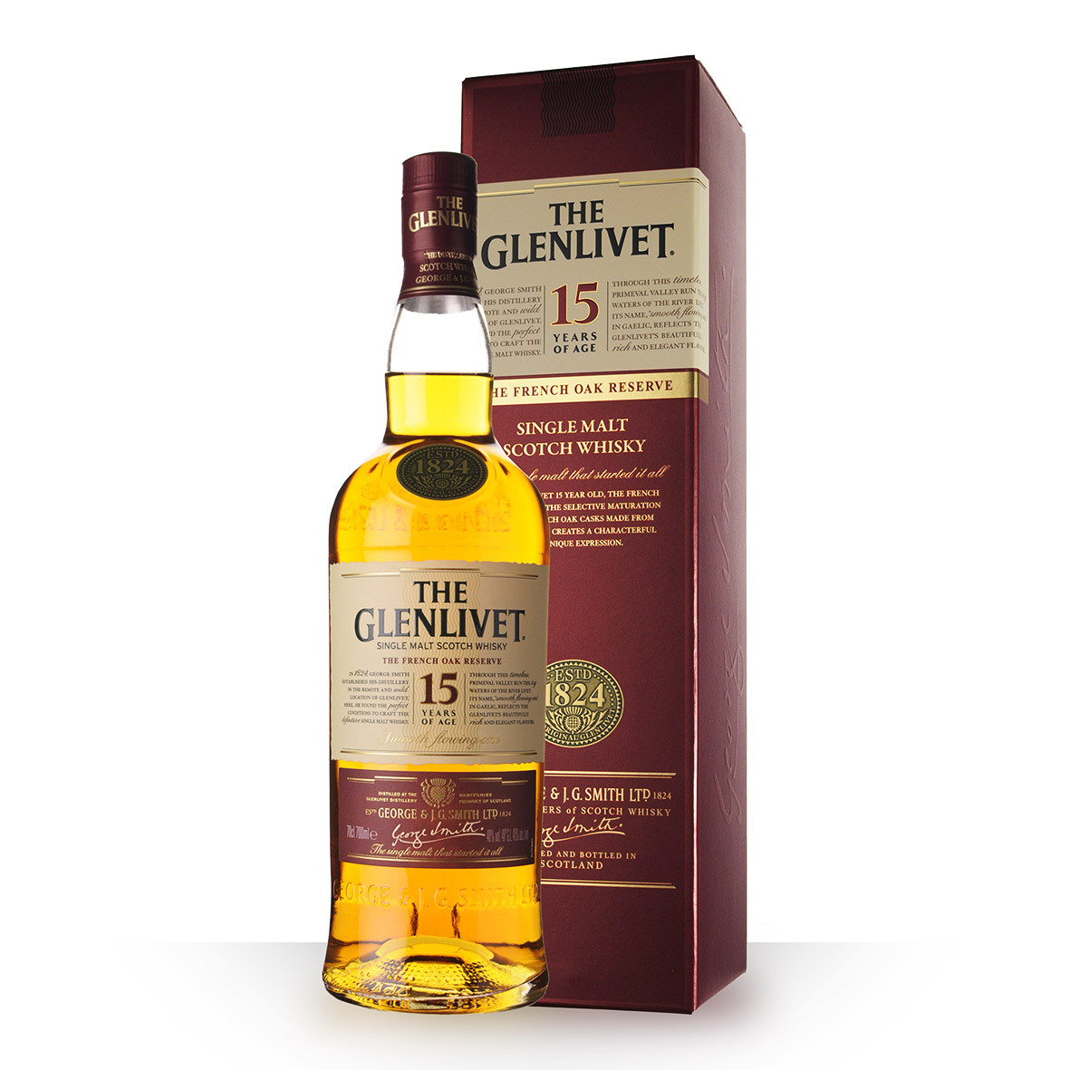 Whisky The Glenlivet French Aok 15 ans 70cl Etui www.odyssee-vins.com