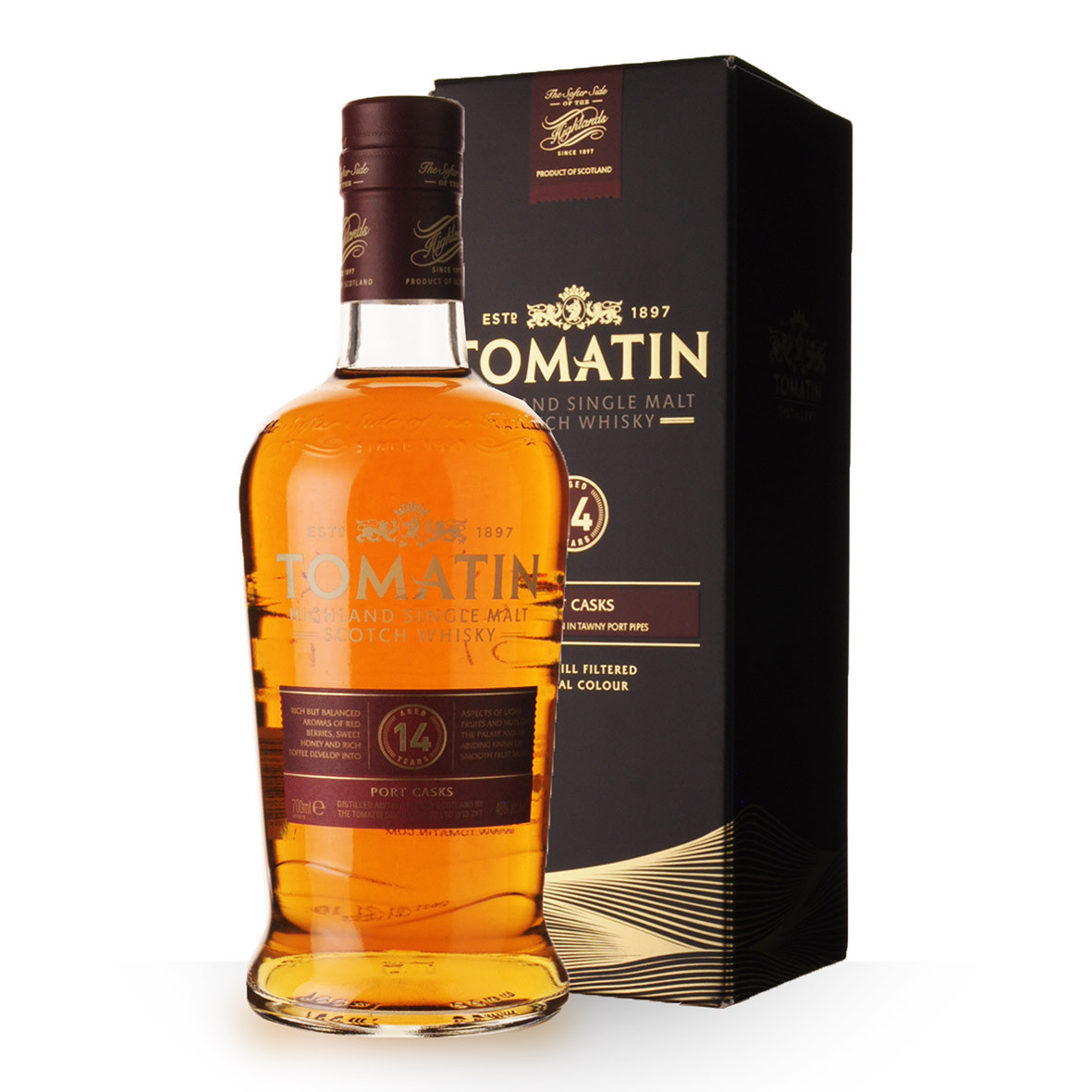 Whisky Tomatin 14 ans 70cl Etui www.odyssee-vins.com