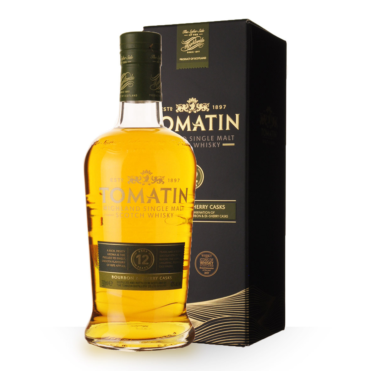 Whisky Tomatin 12 ans 70cl Etui www.odyssee-vins.com