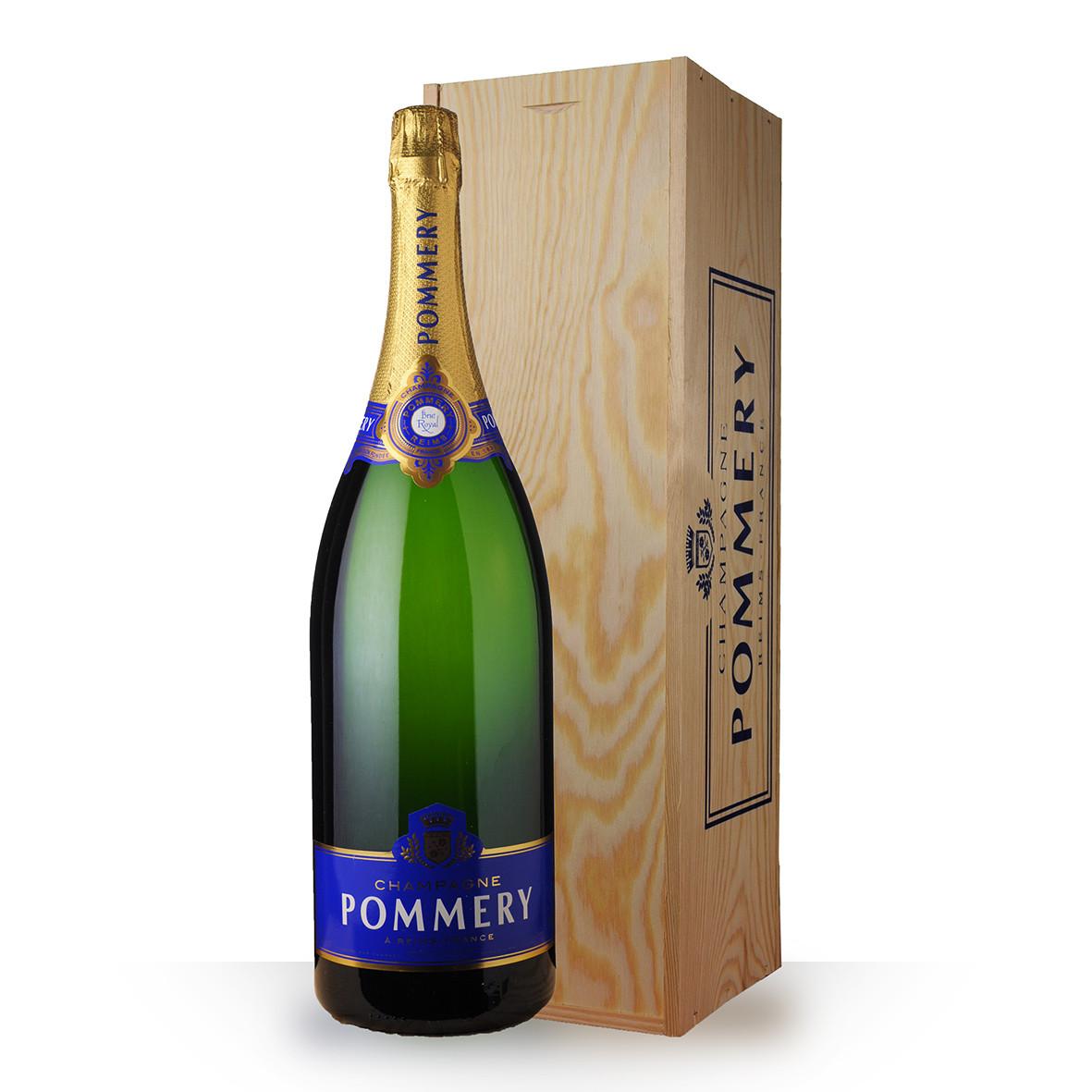Champagne Pommery Brut Royal 300cl Caisse Bois www.odyssee-vins.com
