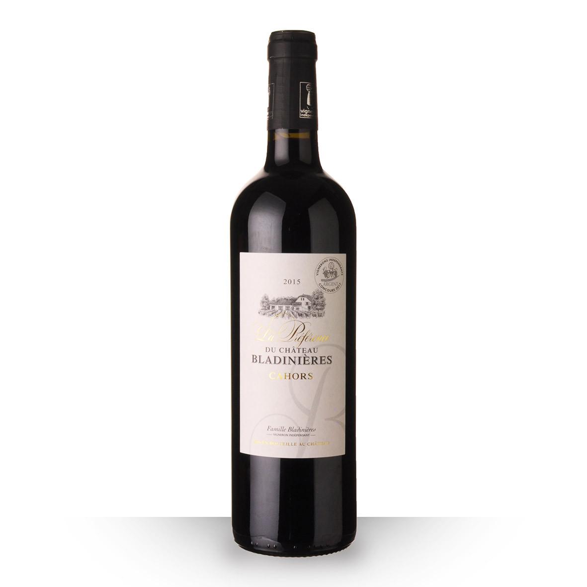La Préférence du Château Bladinières Cahors Rouge 2015 75cl www.odyssee-vins.com