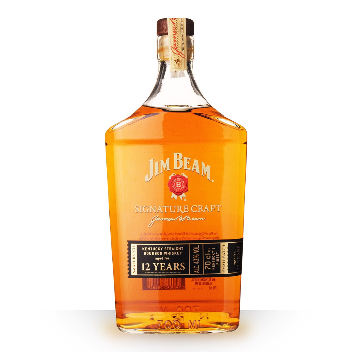 Whisky Jim Beam Signature Craft 12 ans 70cl www.odyssee-vins.com