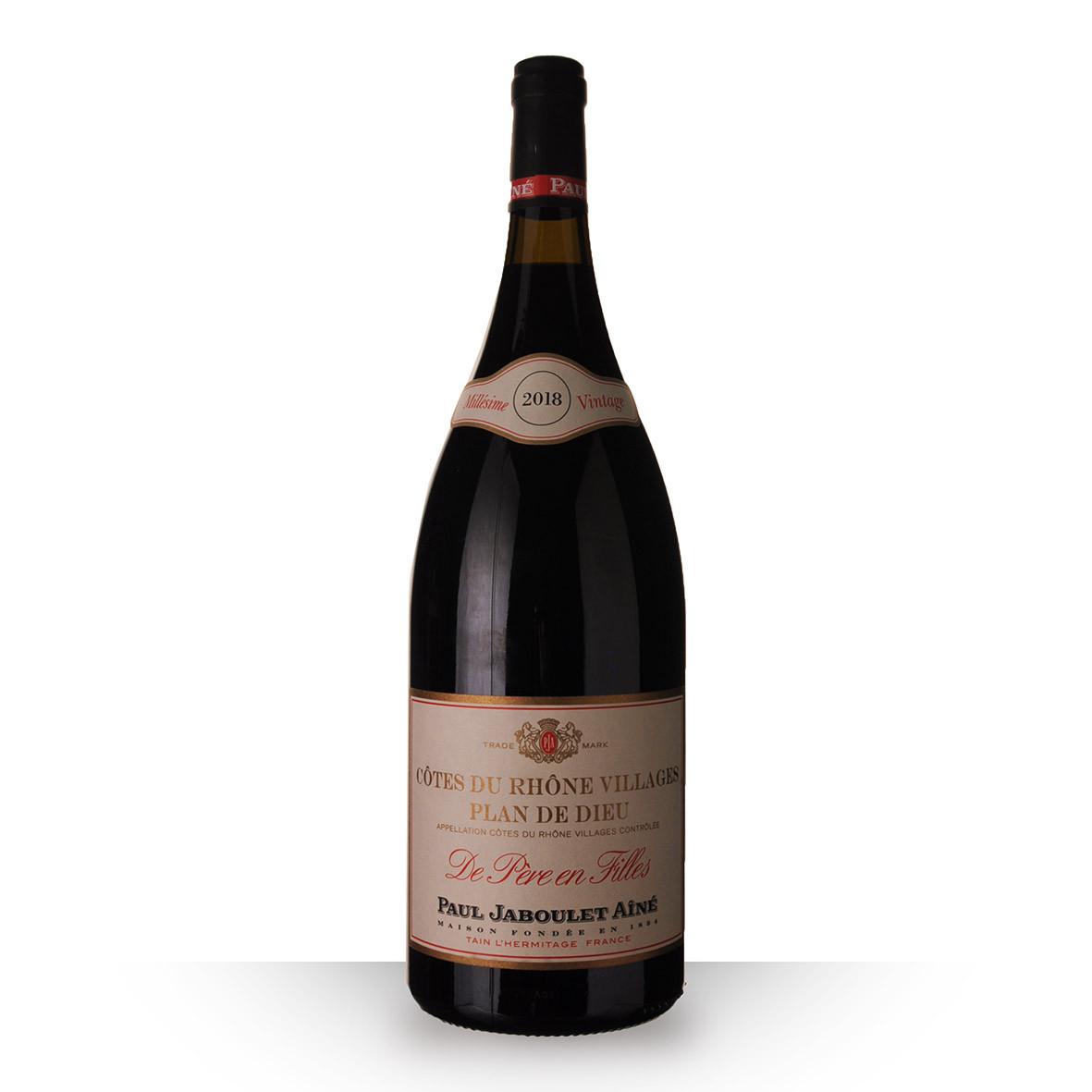 Paul Jaboulet Aîné Côtes du Rhône Villages Plan de Dieu Rouge 2018 150cl www.odyssee-vins.com