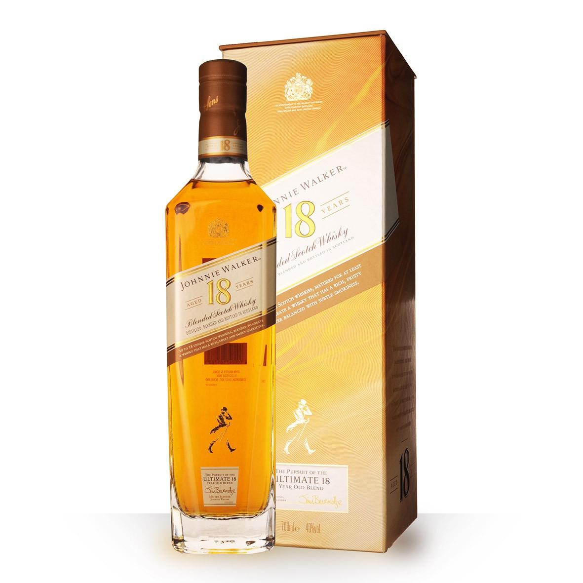 Whisky Johnnie Walker Platinium Label 18 ans 70cl Etui www.odyssee-vins.com
