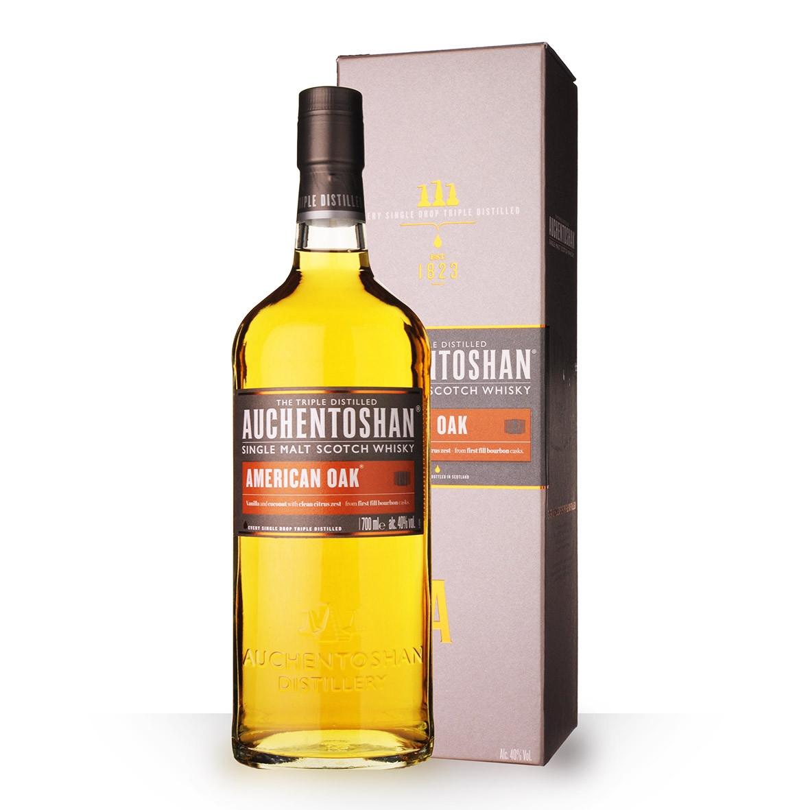 Whisky Auchentoshan American Oak 70cl Etui www.odyssee-vins.com