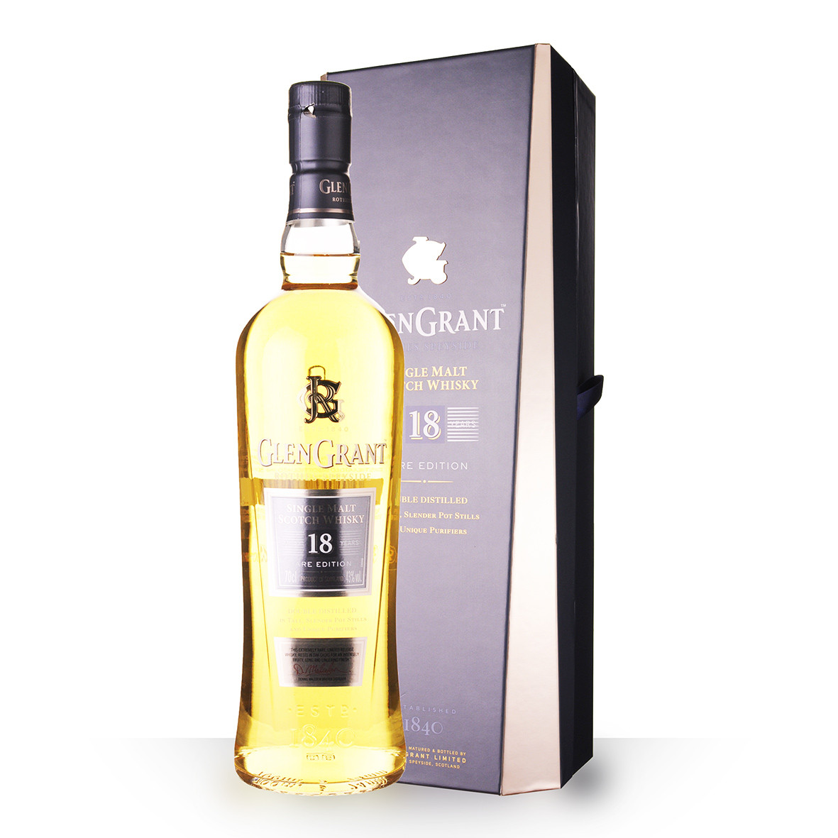 Whisky Glen Grant 18 ans 70cl Coffret www.odyssee-vins.com