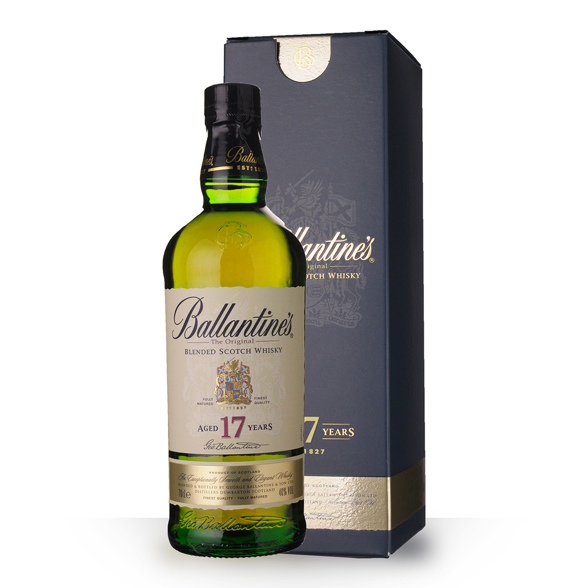 Whisky Ballantines 17 ans 70cl Etui www.odyssee-vins.com