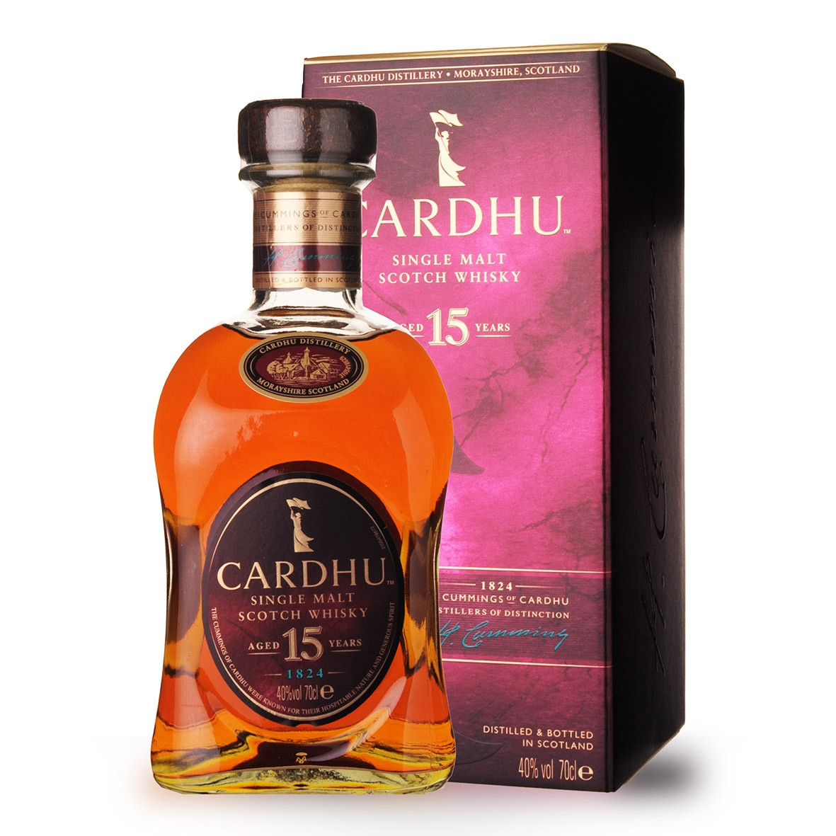 Whisky Cardhu 15 ans 70cl Etui www.odyssee-vins.com