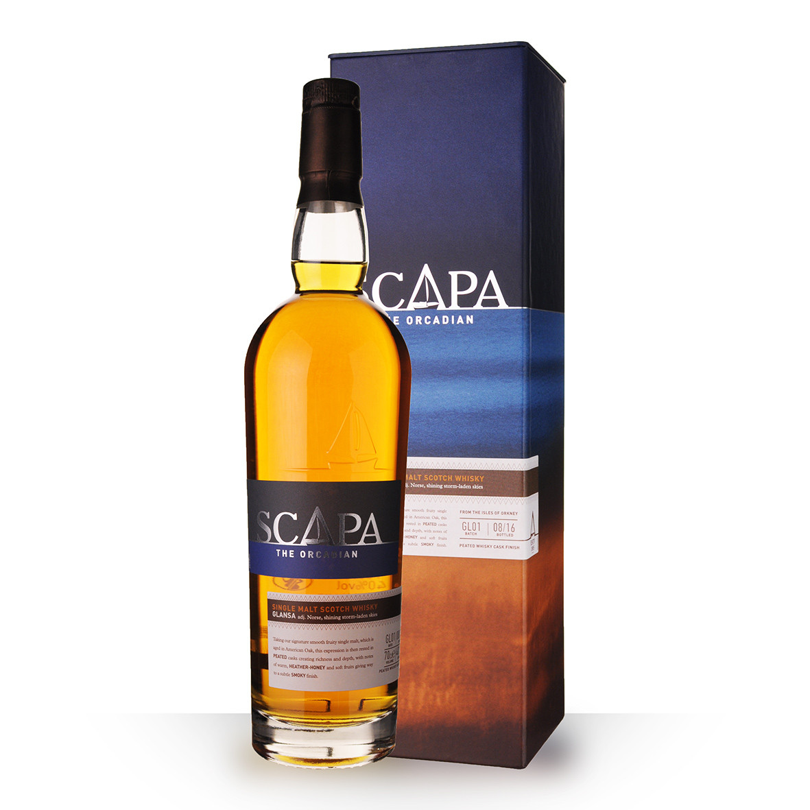 Whisky Scapa Glansa 70cl Coffret www.odyssee-vins.com
