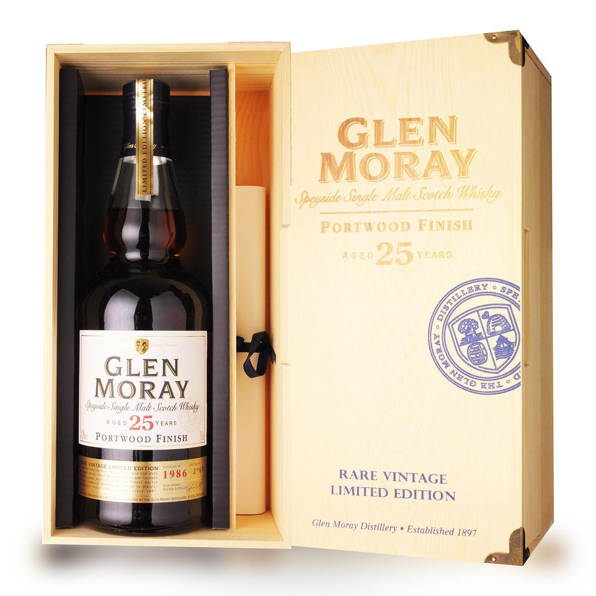 Whisky Glen Moray 25 ans 70cl Coffret www.odyssee-vins.com