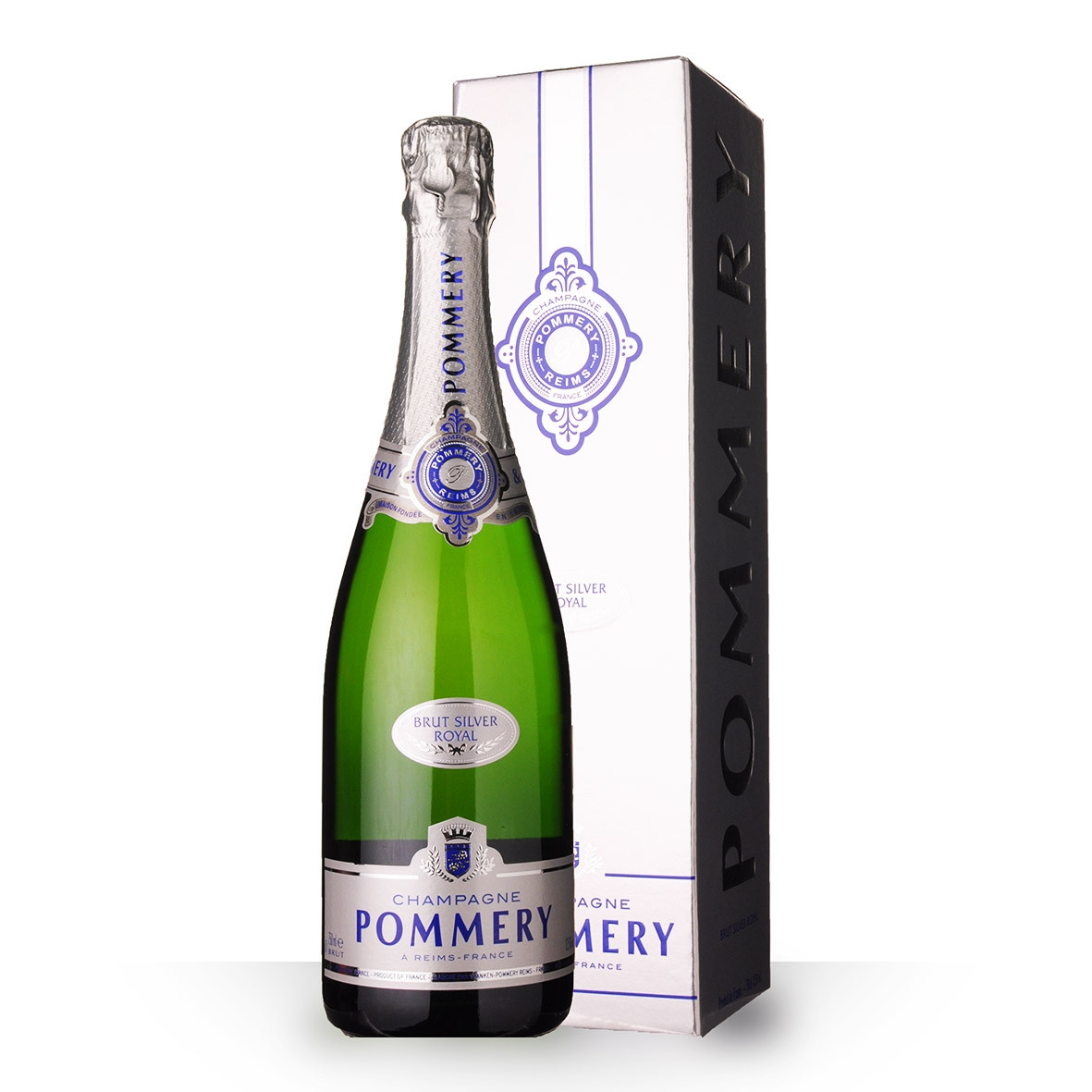 Champagne Pommery Brut Silver Royal 75cl Etui www.odyssee-vins.com