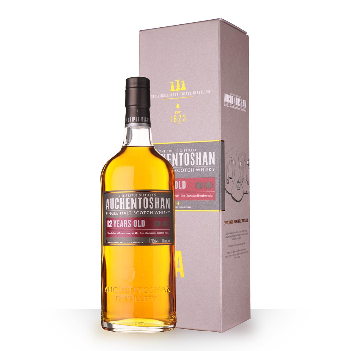 Whisky Auchentoshan 12 ans 70cl Etui www.odyssee-vins.com