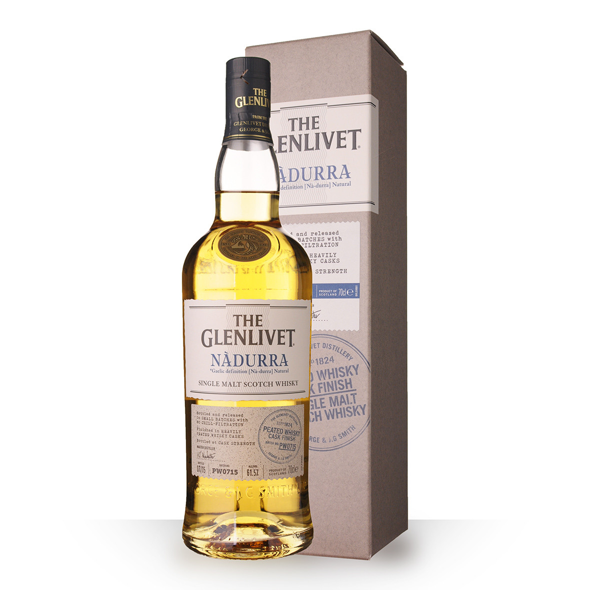Whisky The Glenlivet Nàdurra Peated Whisky Cask Finish 70cl Etui www.odyssee-vins.com