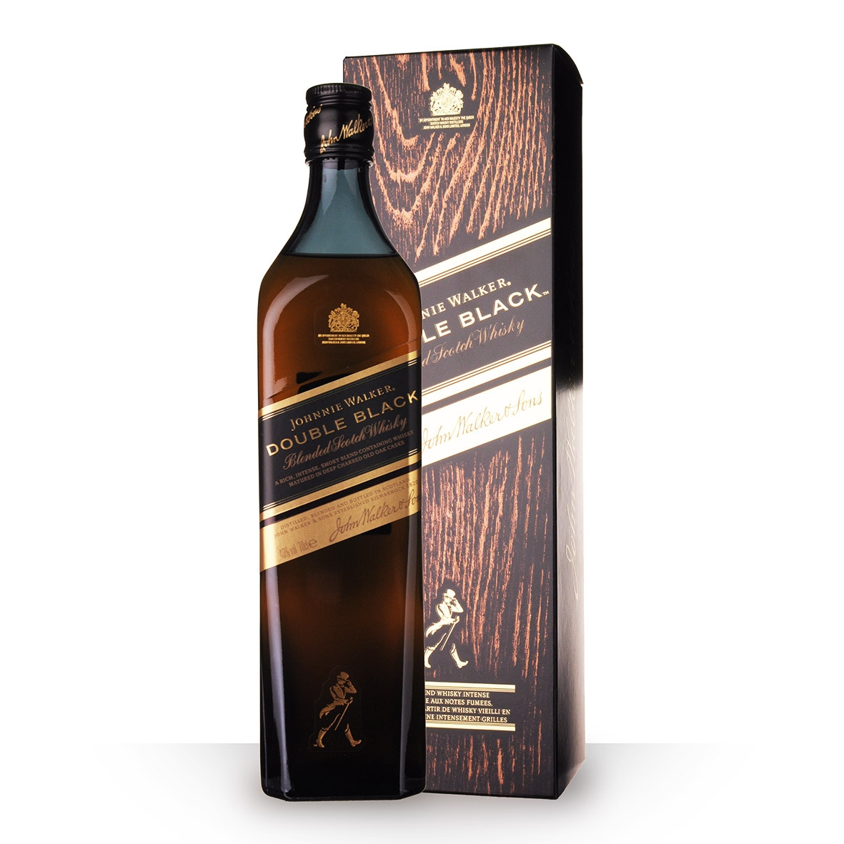 Whisky Johnnie Walker Double Black 70cl Etui www.odyssee-vins.com