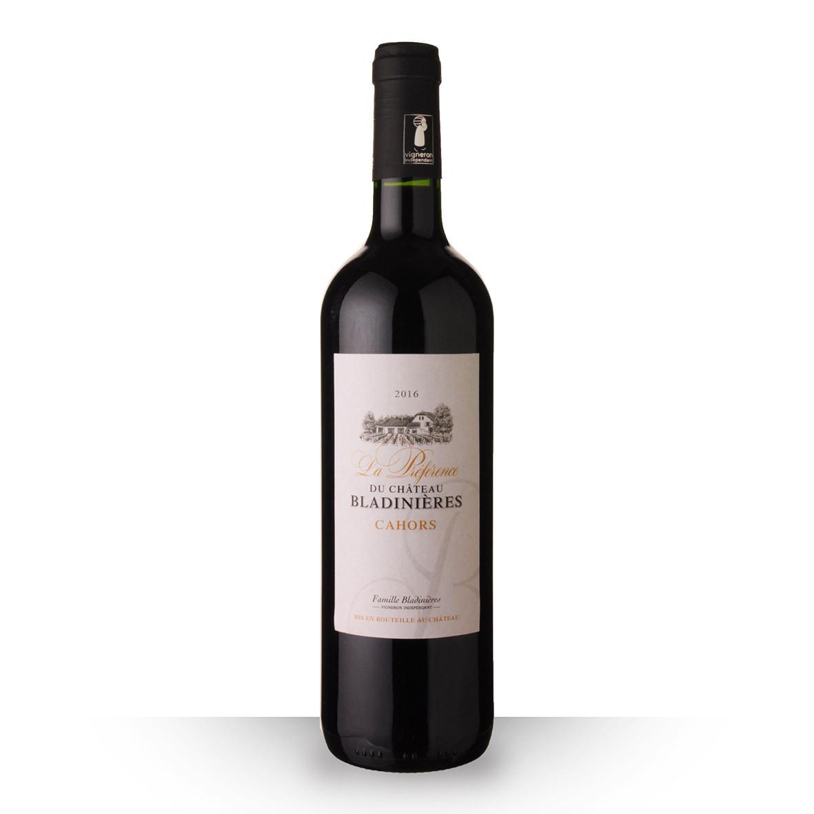La Préférence du Château Bladinières Cahors Rouge 2016 75cl www.odyssee-vins.com