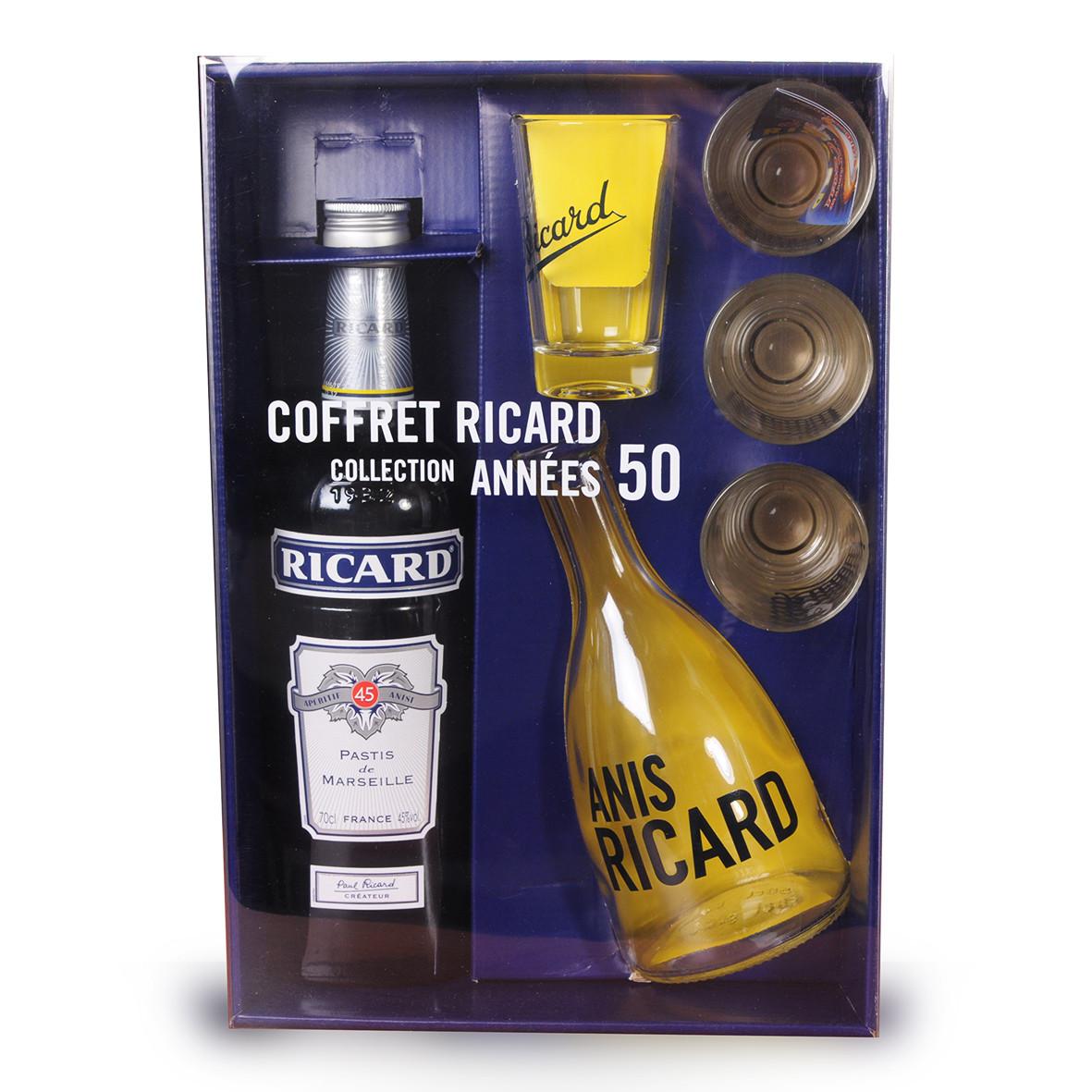 Coffret Ricard 70cl Collection Années 50 www.odyssee-vins.com