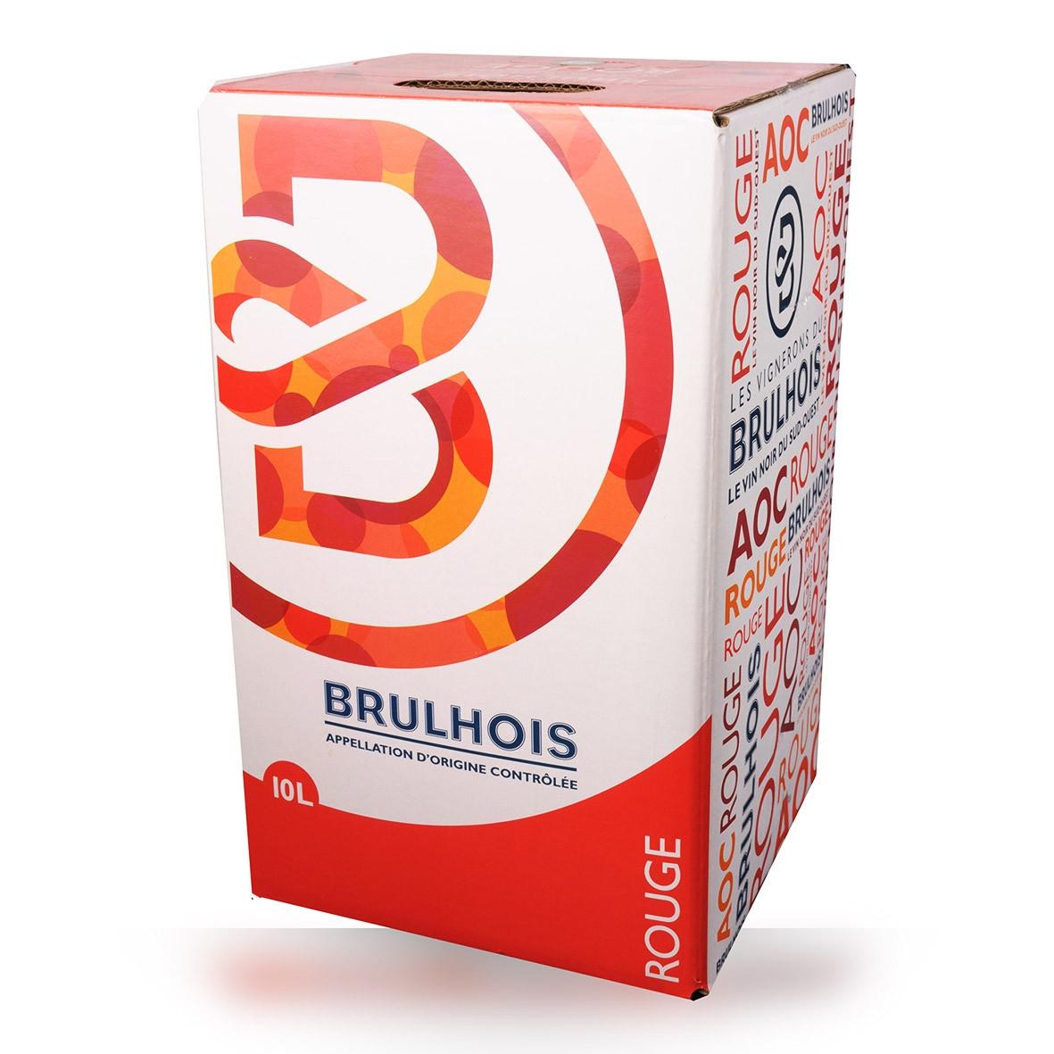 Bag-in-Box 10L Les Vignerons du Brulhois Brulhois Rouge www.odyssee-vins.com
