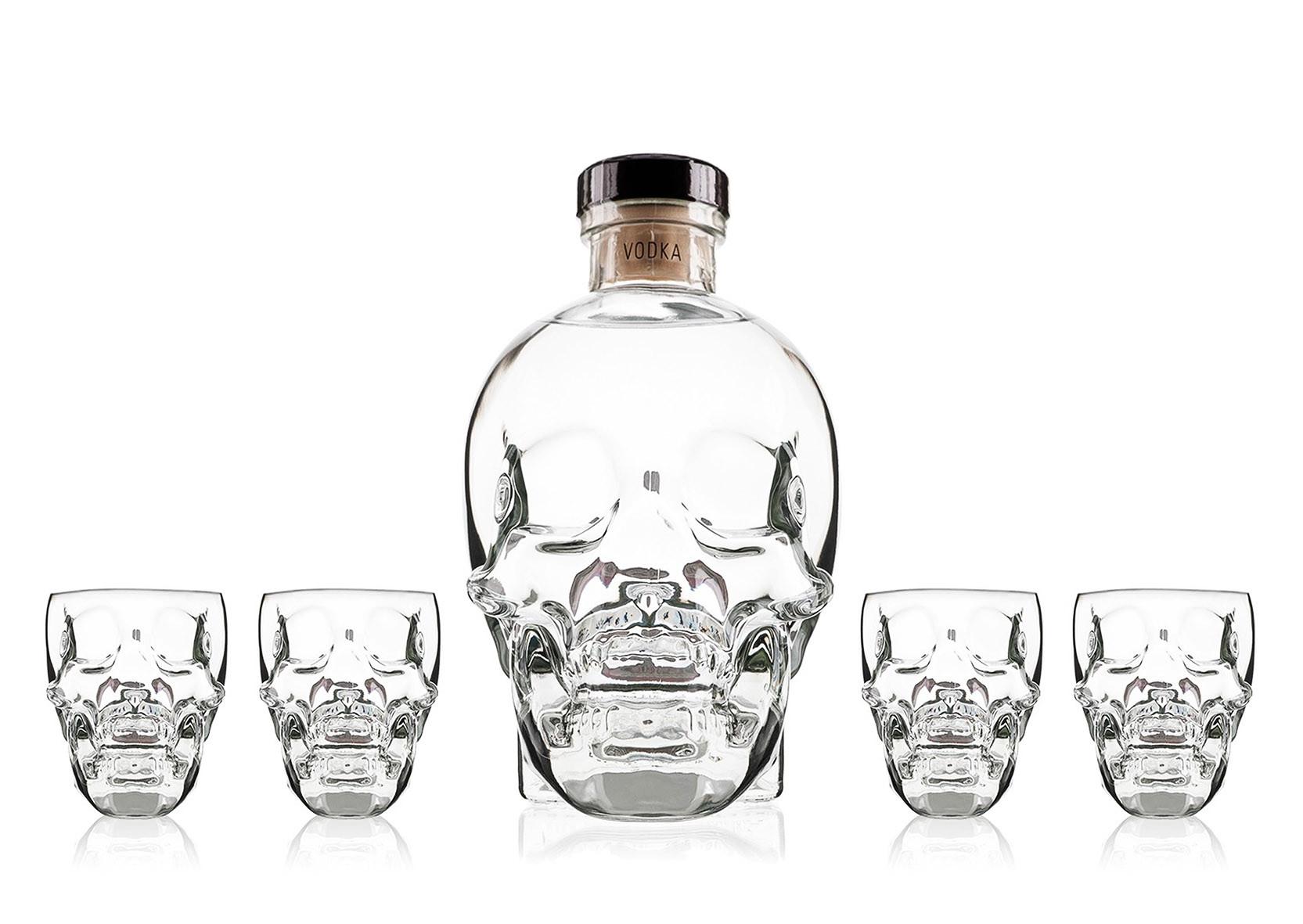 Vodka Crystal Head 70cl Coffret 4 Verres www.odyssee-vins.com