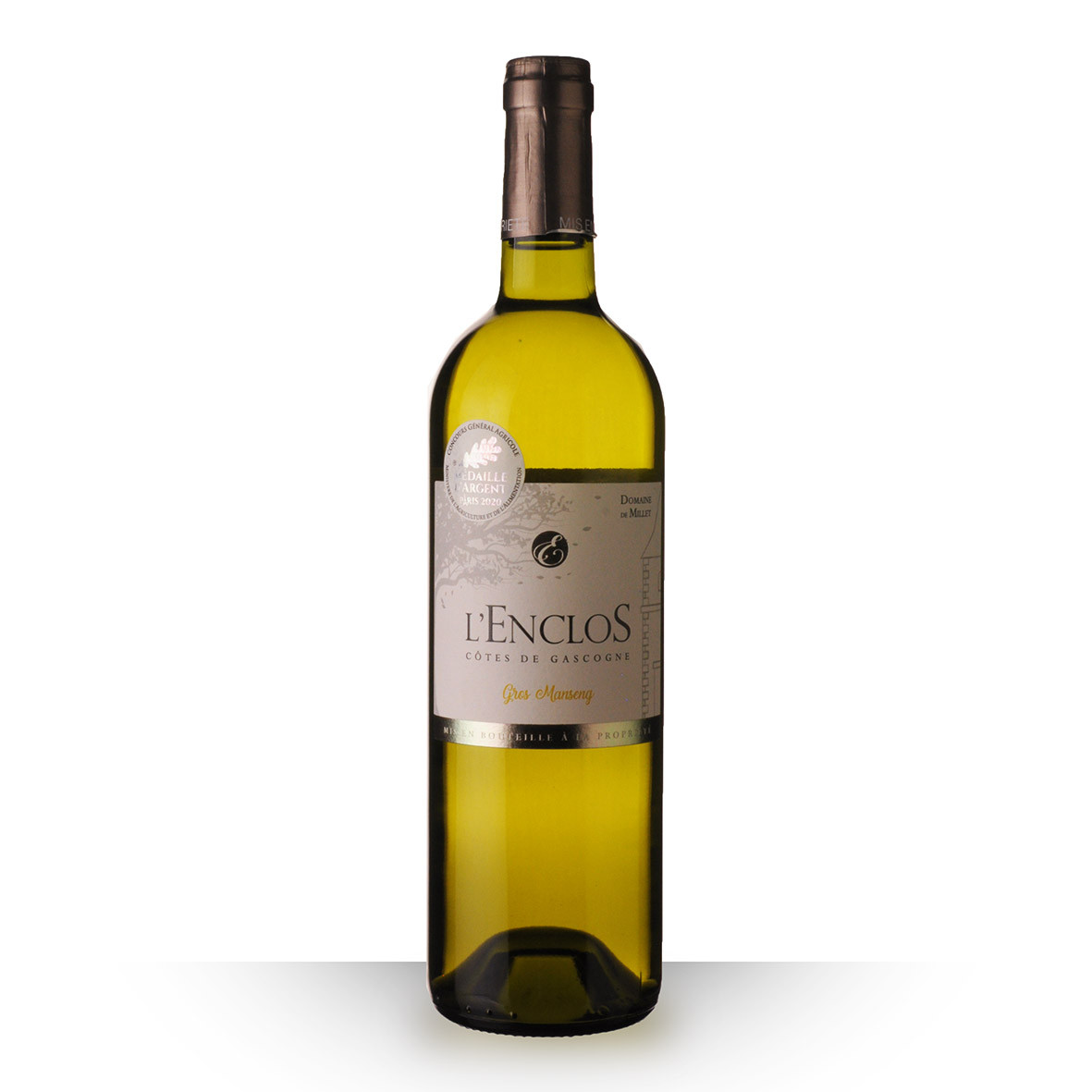 Domaine de Millet lEnclos Gros Manseng Côtes de Gascogne Blanc 2019 75cl www.odyssee-vins.com