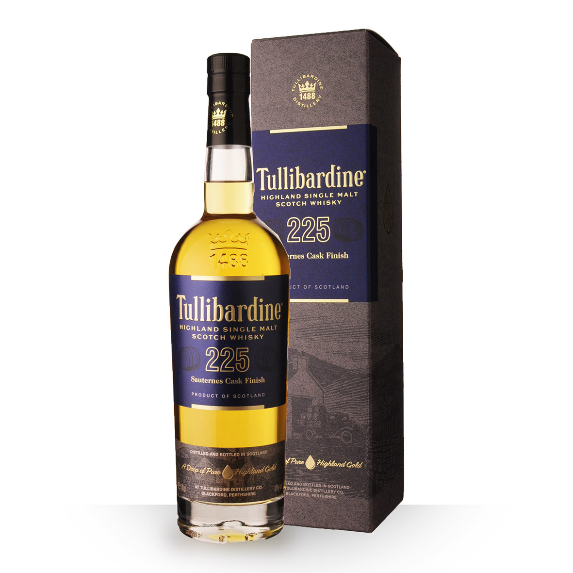 Whisky Tullibardine 225 Sauternes Finish 70cl Coffret www.odyssee-vins.com