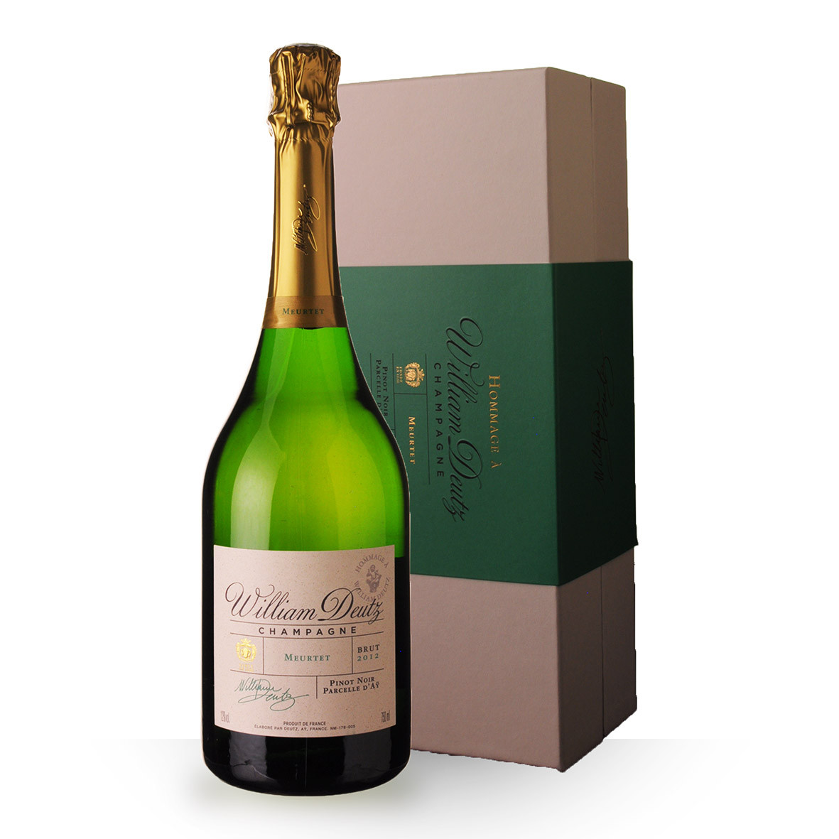 Champagne Deutz Hommage William Deutz Meurtet 2012 Brut 75cl Coffret www.odyssee-vins.com