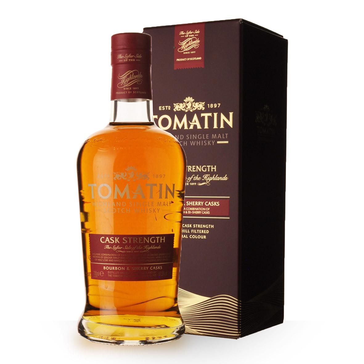 Whisky Tomatin Cask Strength 70cl Etui www.odyssee-vins.com