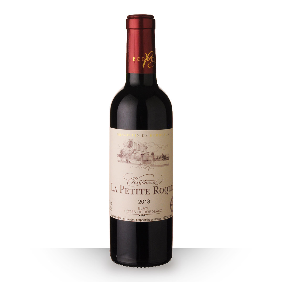 Château la Petite Roque Côtes de Bordeaux Blaye Rouge 2018 37,5cl www.odyssee-vins.com