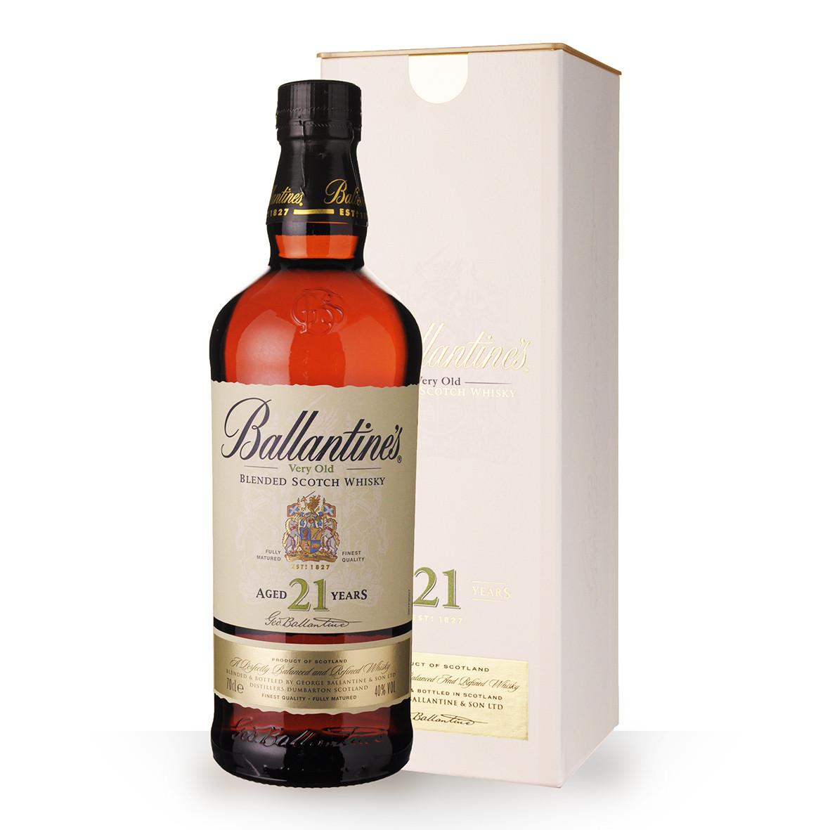 Whisky Ballantines 21 ans 70cl Coffret www.odyssee-vins.com