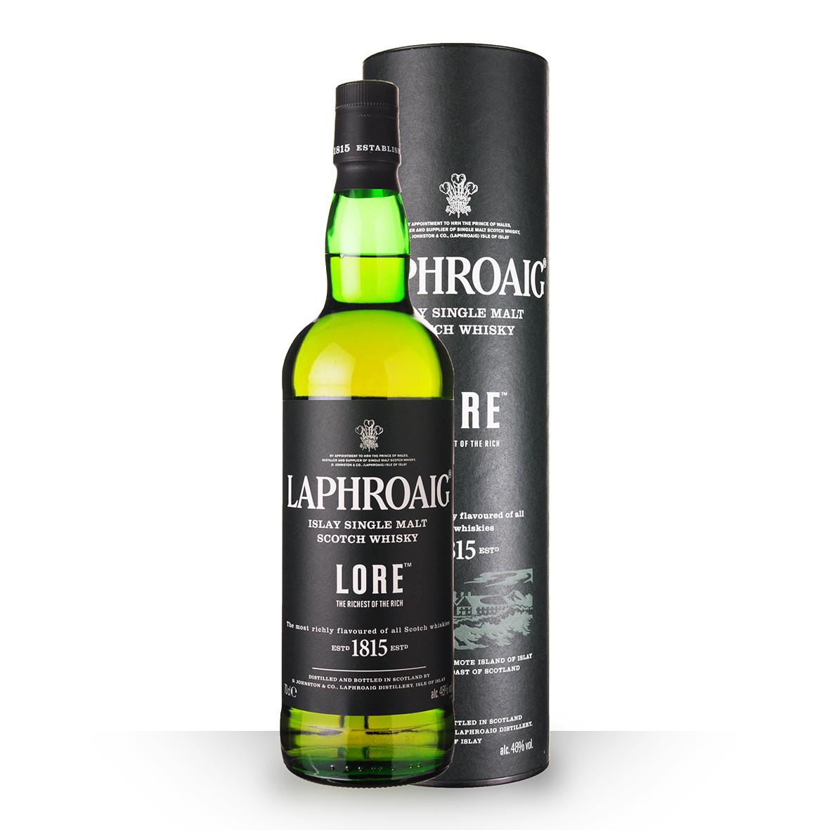 Whisky Laphroaig Lore 70cl Coffret www.odyssee-vins.com