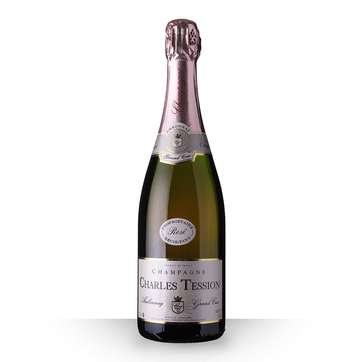Champagne Charles Tession Brut Rosé 75cl Grand Cru www.odyssee-vins.com