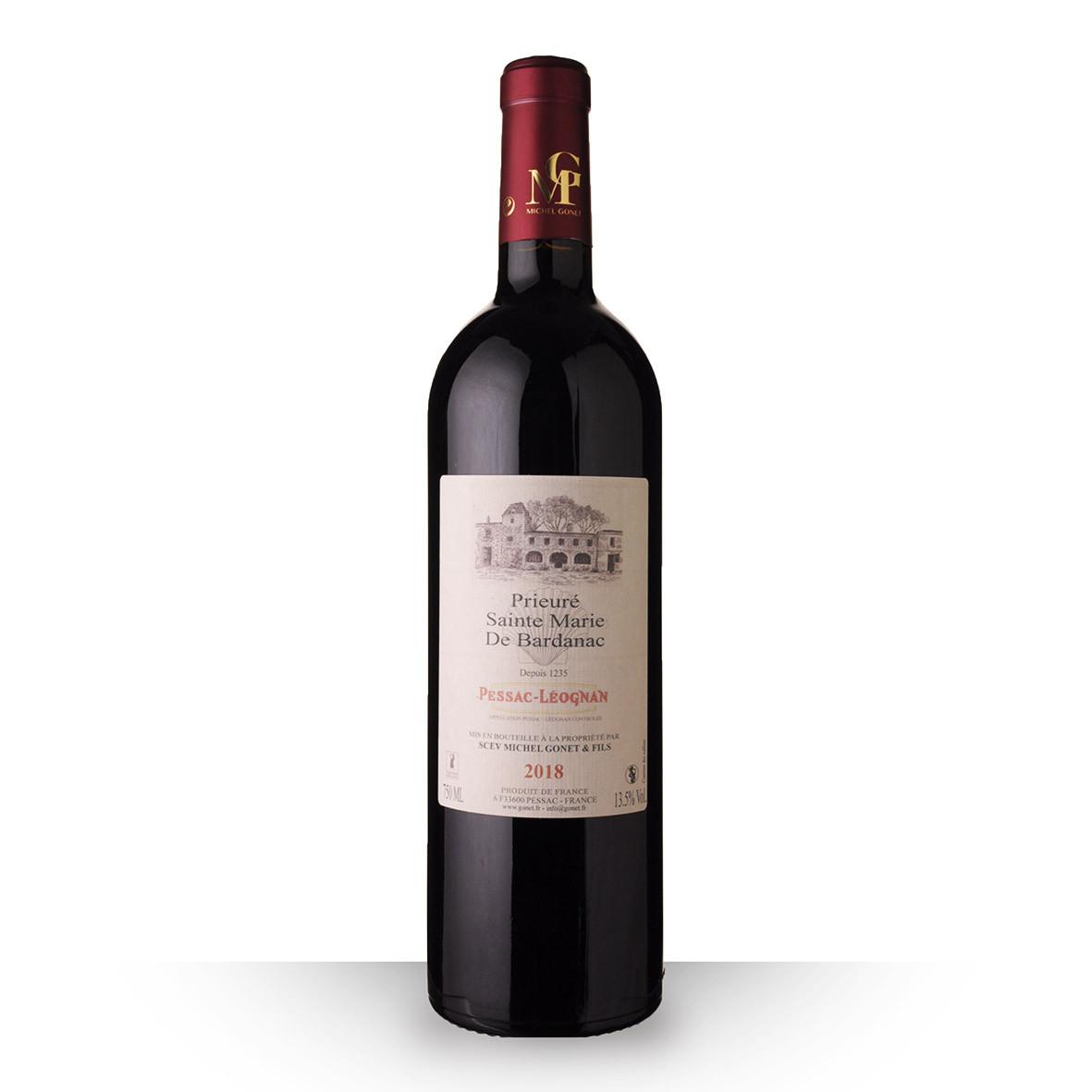 Prieuré Sainte Marie de Bardanac Pessac-Léognan Rouge 2018 75cl www.odyssee-vins.com