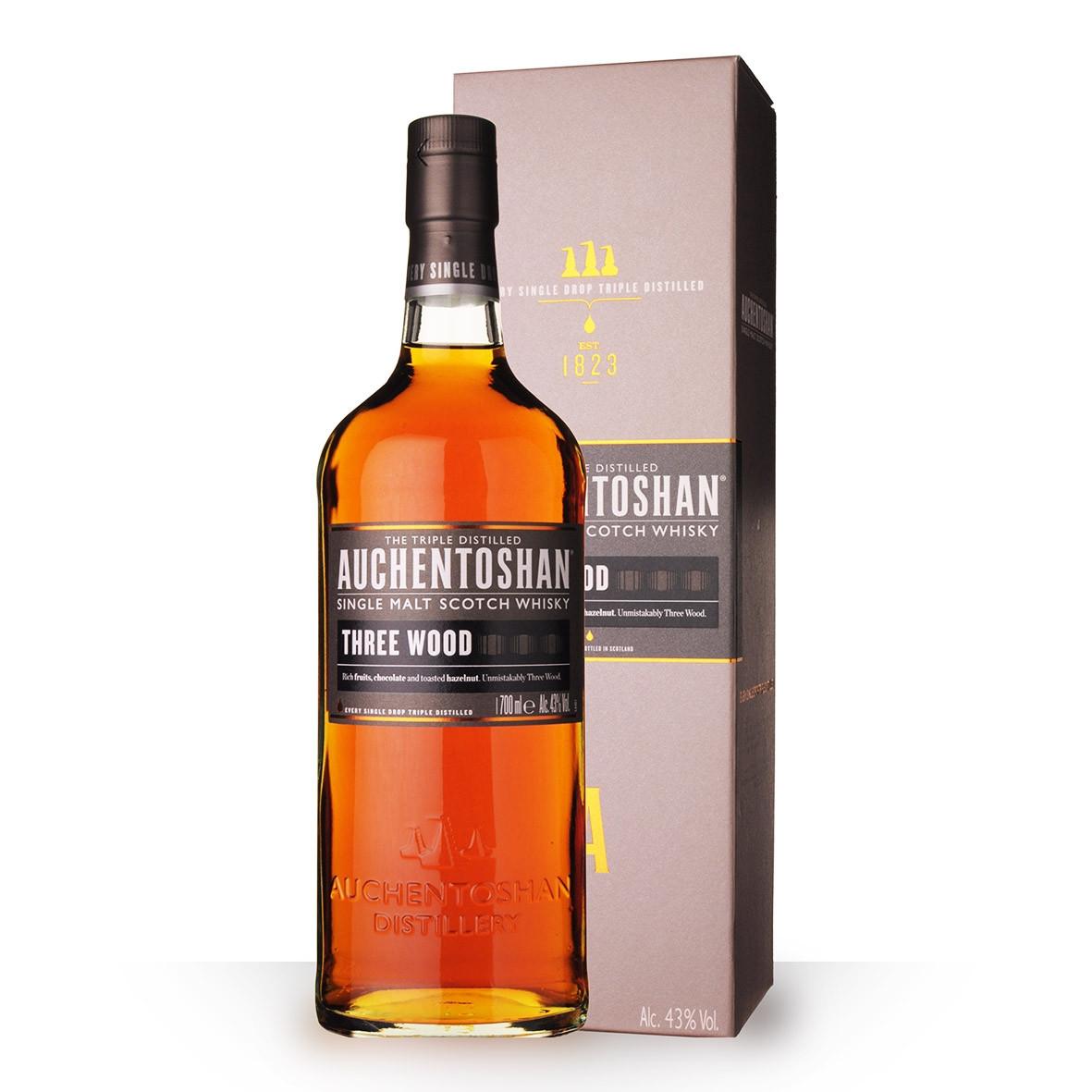 Whisky Auchentoshan Three Wood 70cl Etui www.odyssee-vins.com