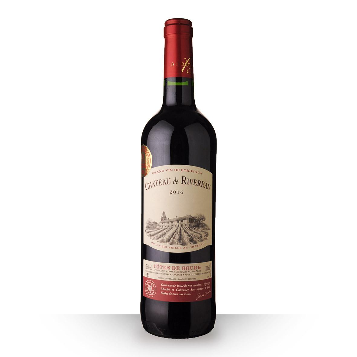 Château de Rivereau Grande Cuvée Côtes de Bourg Rouge 2016 75cl www.odyssee-vins.com