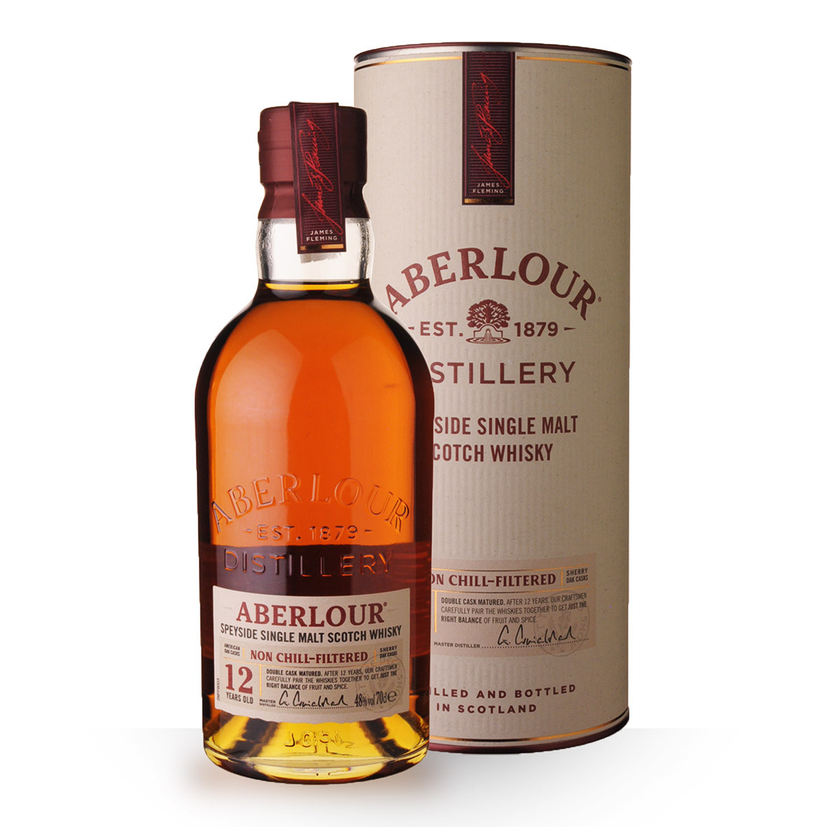 Whisky Aberlour 12 ans Non Chill-Filtered 70cl Coffret www.odyssee-vins.com