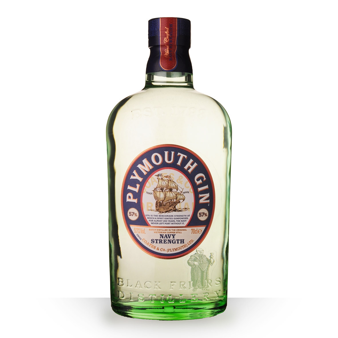 Gin Plymouth Navy Strength 70cl www.odyssee-vins.com