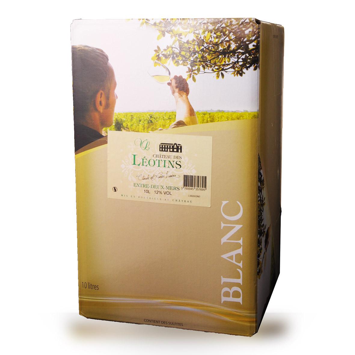 Bag-In-Box 10L Château des Léotins Entre-Deux-Mers Blanc www.odyssee-vins.com