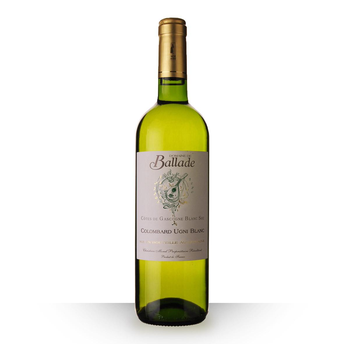 Domaine de Ballade Colombard Côtes de Gascogne Blanc 2020 75cl www.odyssee-vins.com