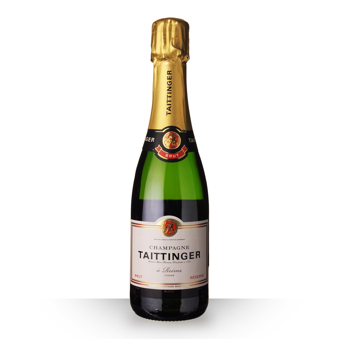 Champagne Taittinger Brut Réserve 37,5cl www.odyssee-vins.com