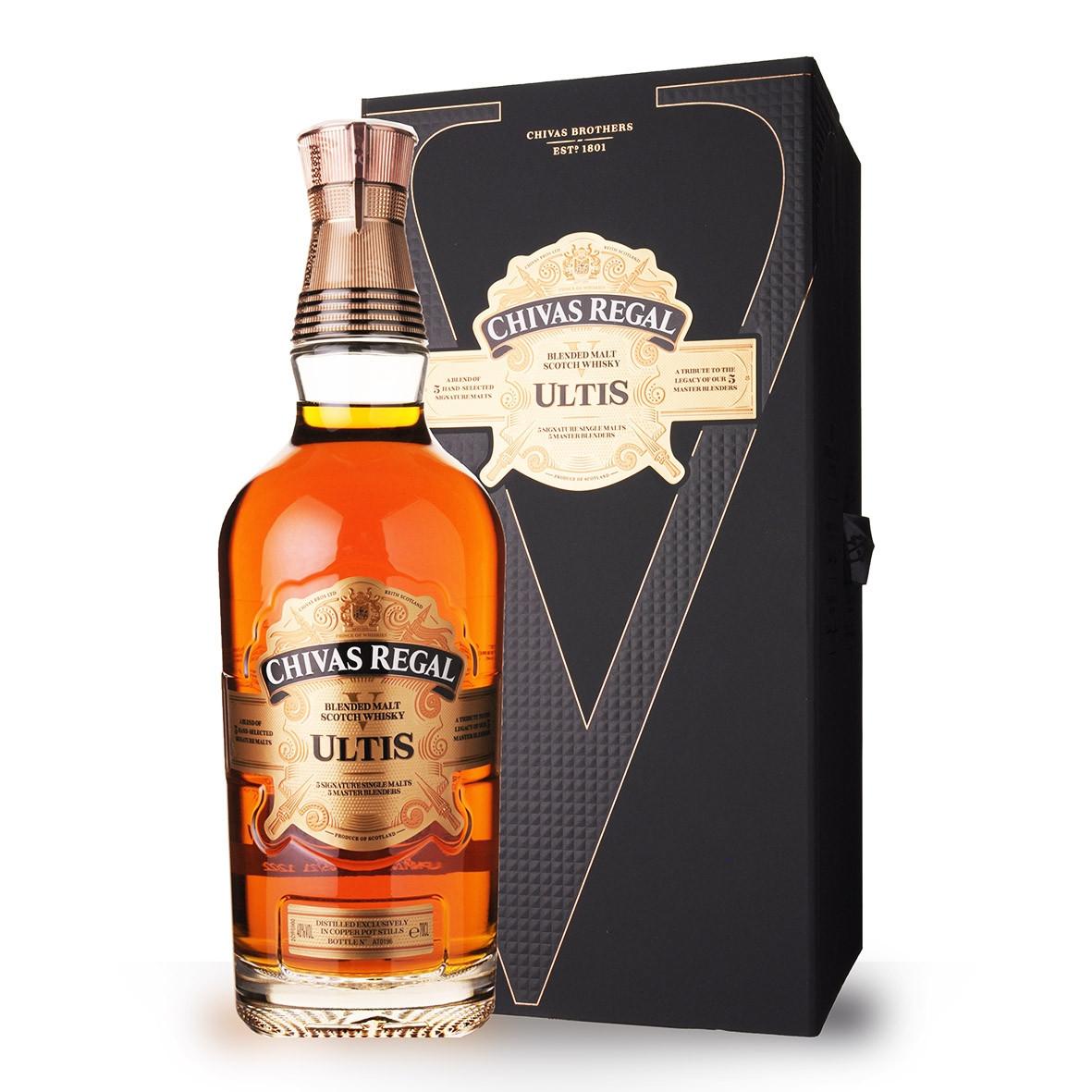 Whisky Chivas Ultis 70cl Coffret www.odyssee-vins.com