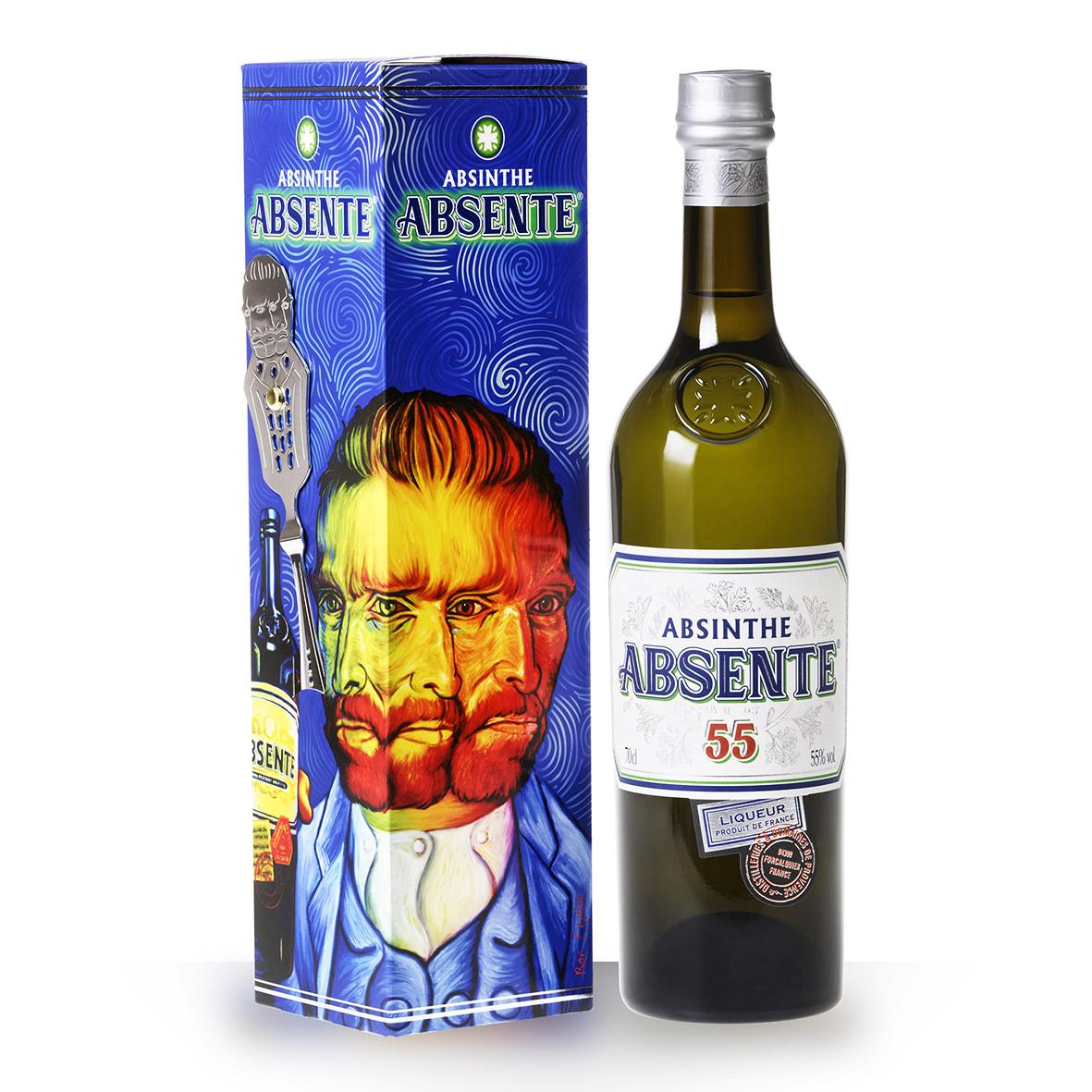 Absente dHenri Bardouin 55° 70cl Etui Cuillère Van Gogh www.odyssee-vins.com