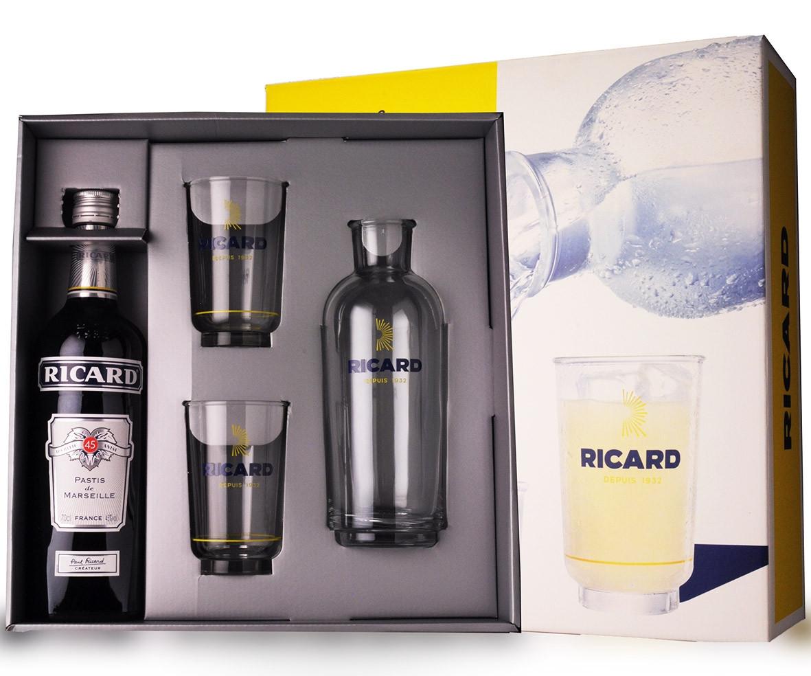 Coffret Ricard 70cl Edition Speciale Lehanneur www.odyssee-vins.com