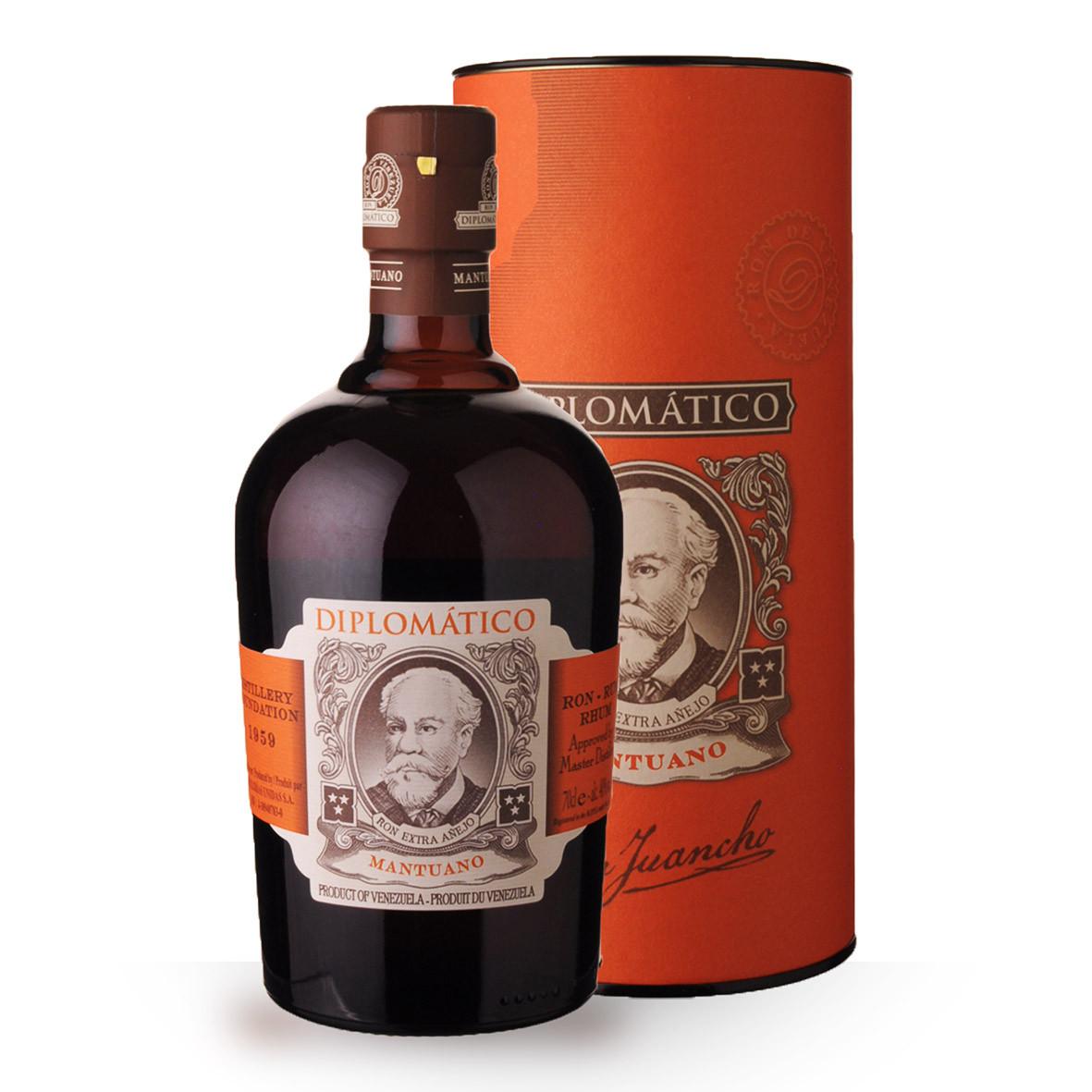 Rhum Diplomatico Mantuano 8 ans 70cl Coffret www.odyssee-vins.com