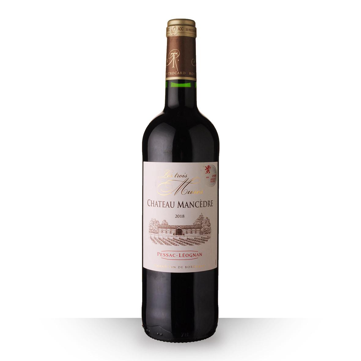 Château Mancèdre les Trois Muses Pessac-Léognan Rouge 2018 75cl www.odyssee-vins.com
