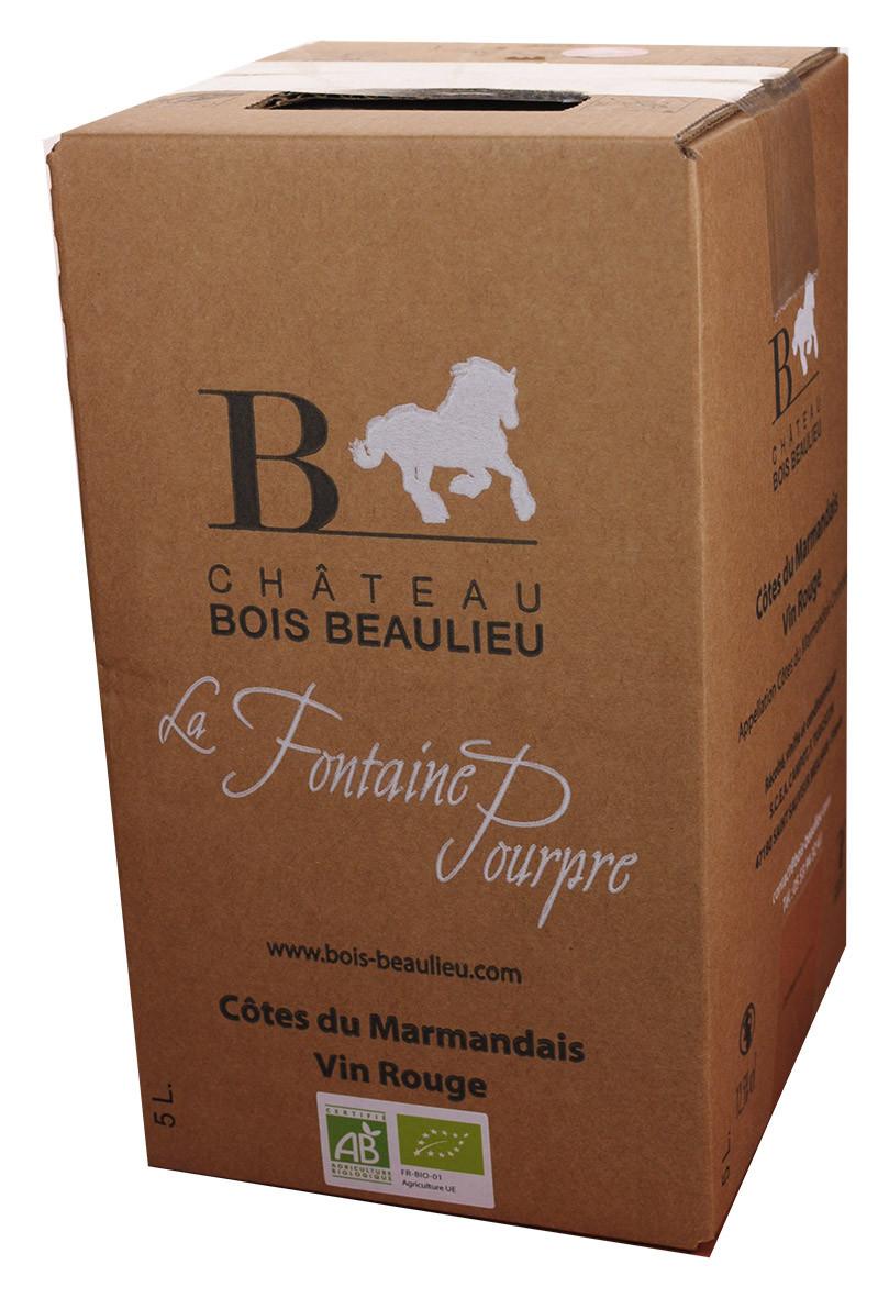Bag-in-Box 5L Château Bois Beaulieu Côtes du Marmandais Rouge www.odyssee-vins.com