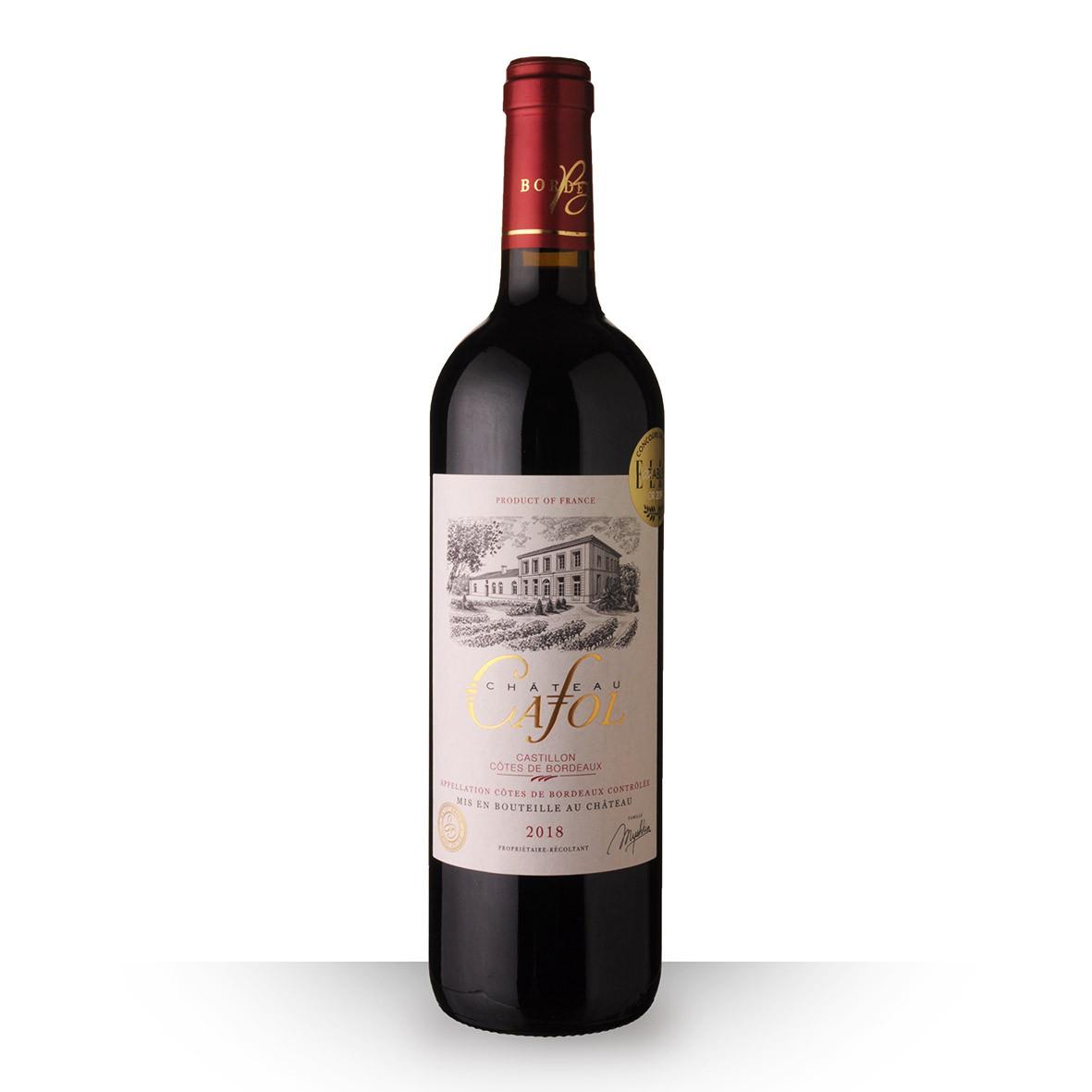 Château Cafol Côtes de Bordeaux Castillon Rouge 2018 75cl www.odyssee-vins.com