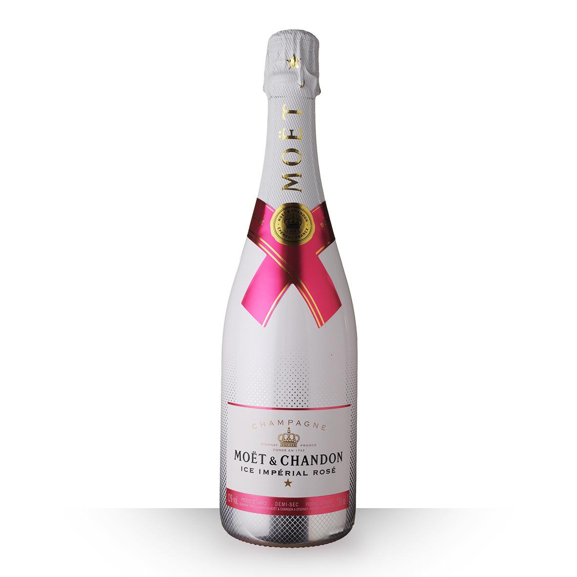 Champagne Moët et Chandon Ice Impérial Rosé Demi-Sec 75cl www.odyssee-vins.com
